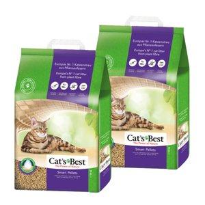 Żwirek dla kota Cat's Best Smart Pellets 2x10kg (czyli 2x20l). Możliwe ~37zł za 10kg (20l, opis).