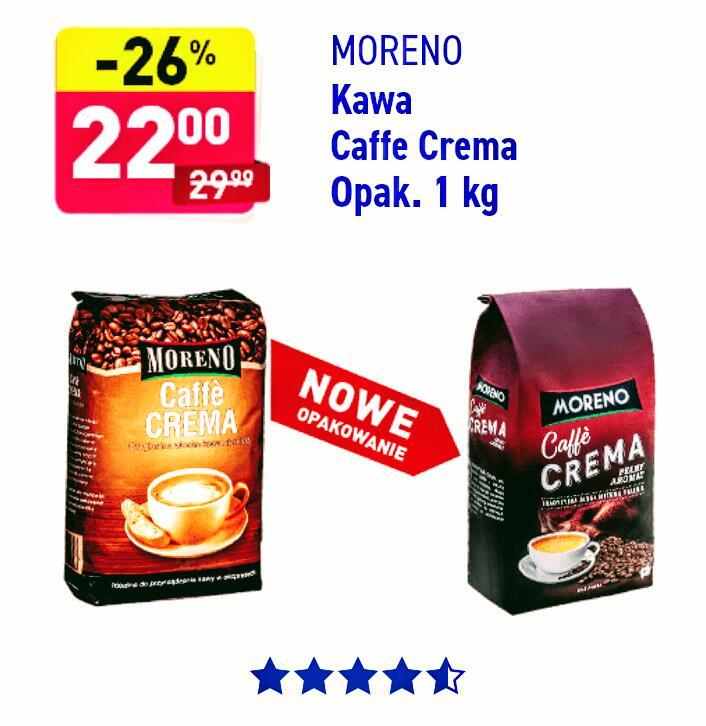 Kawa ziarnista Moreno Caffe Crema 1 kg ALDI