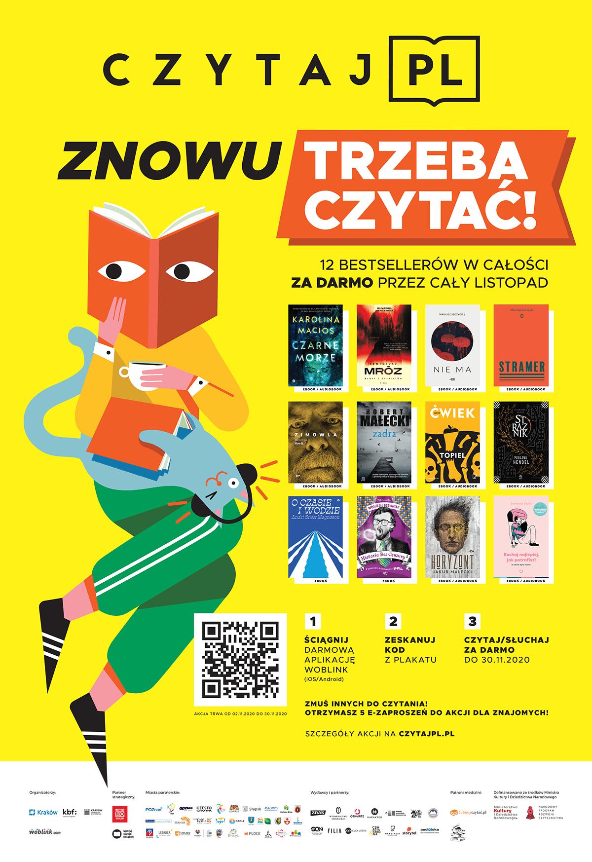 Akcja Czytaj.pl 12 darmowych audiobooków i ebooków