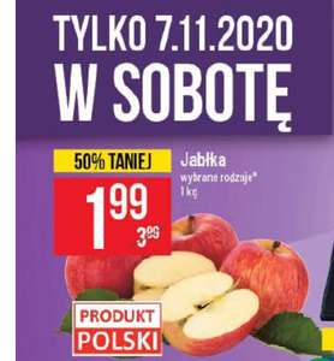 Jabłka 1,99 za kg POLOmarket