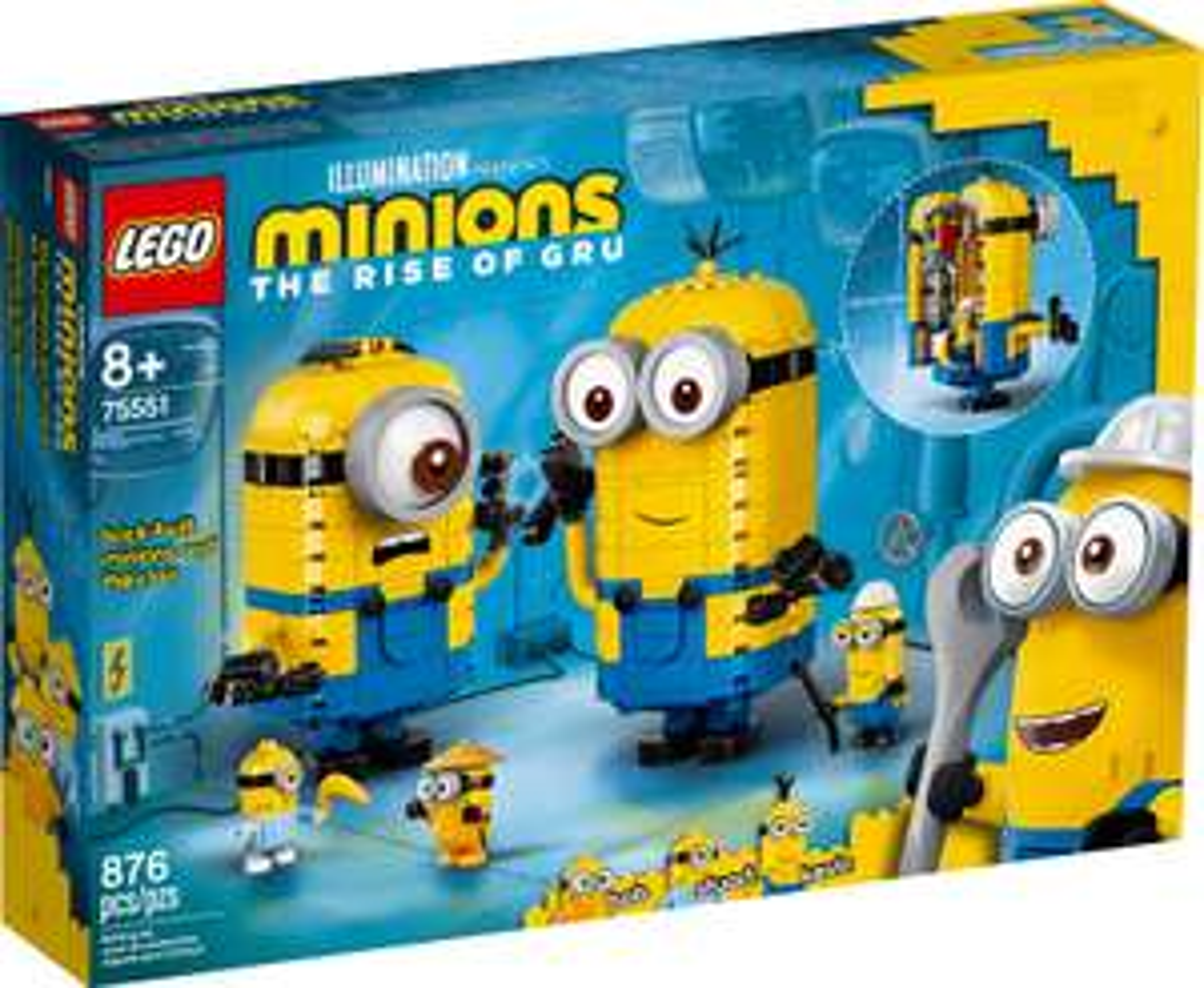 LEGO MINIONS 75551 Minionki i ich gniazdo