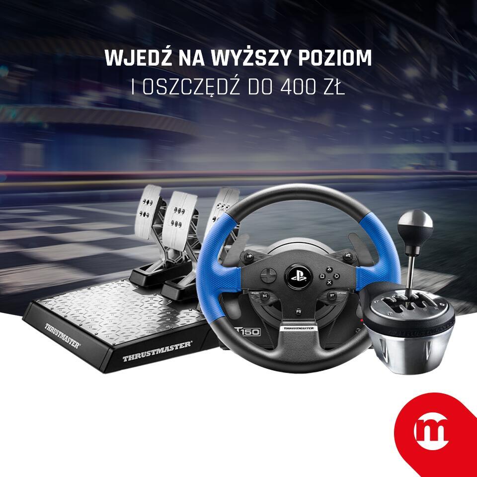 Kierownice do konsol oraz PC (np. Thrustmaster T150 RS Pro za 749 zł) @Morele