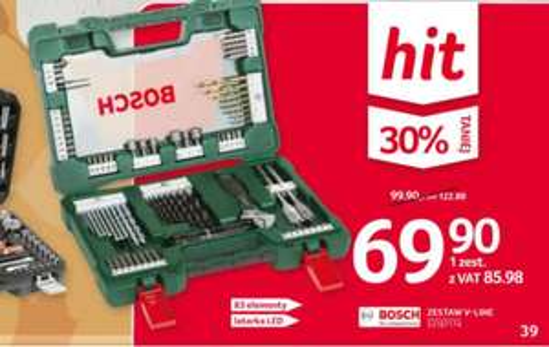 Zestaw Bosch V-line 83 elementy w Selgros