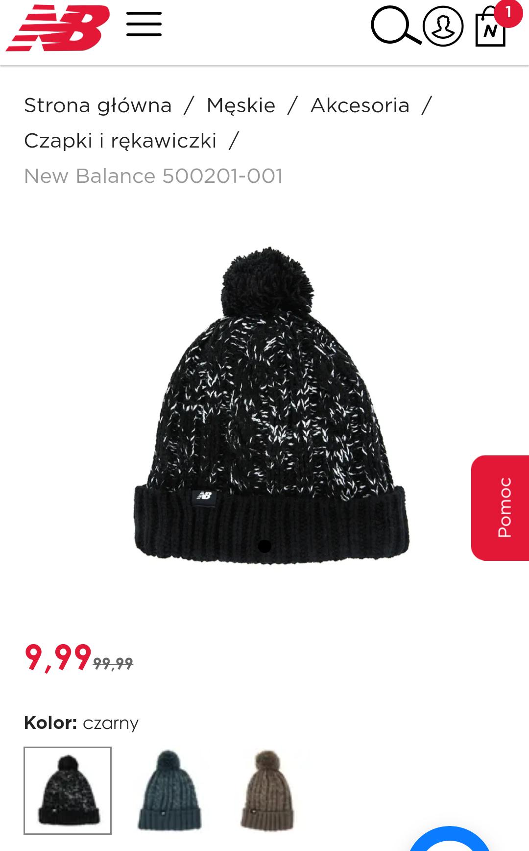 Czapki i rękawiczki zimowe New Balance