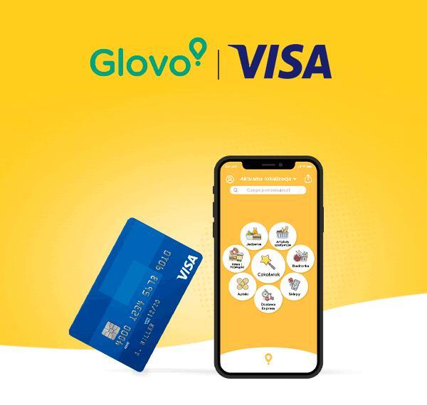 Zyskaj 10 zł płacąc w Glovo kartą VISA