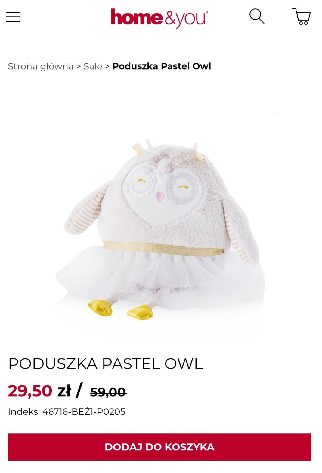 Poduszka PASTEL OWL Home and You oraz kilka propozycji w opisie