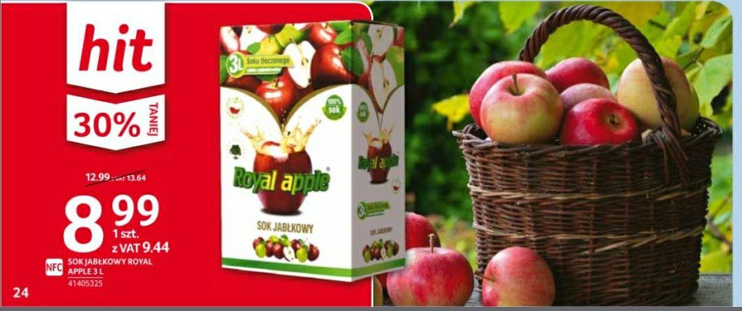 Sok jabłkowy tłoczny NFC 3l