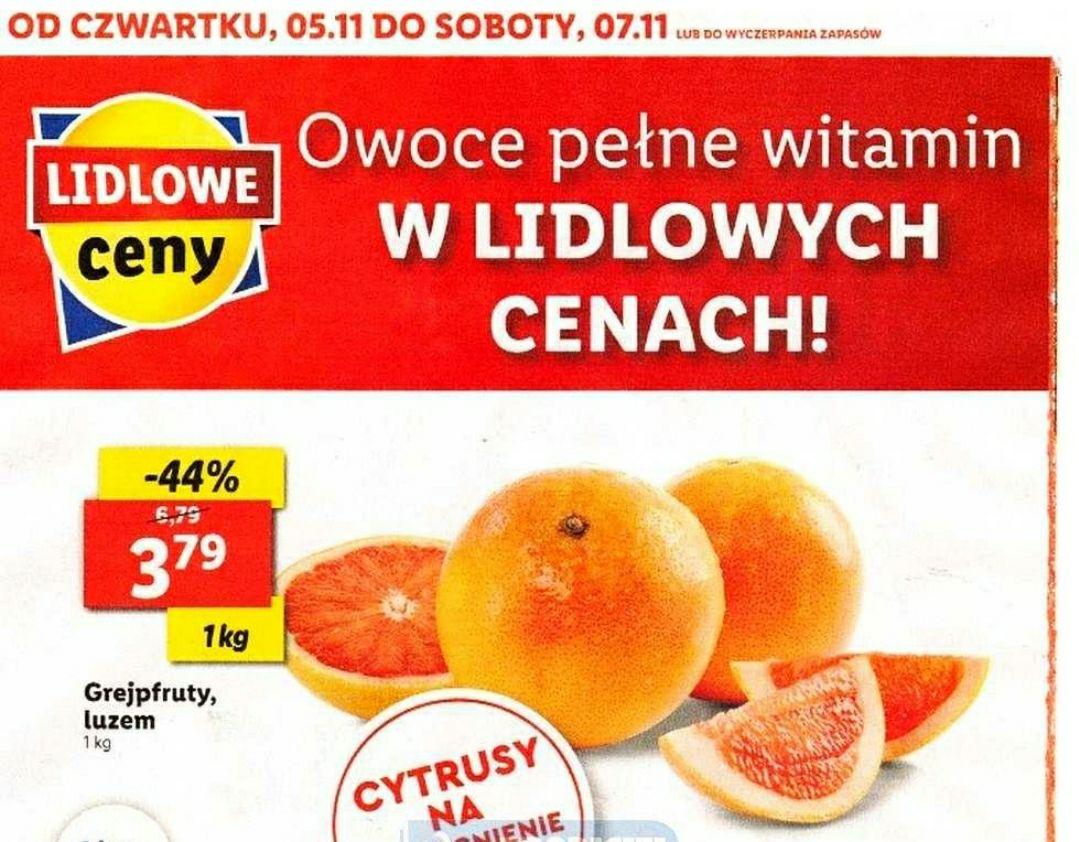 Grejpfrut 3,79 zł/kg - Lidl