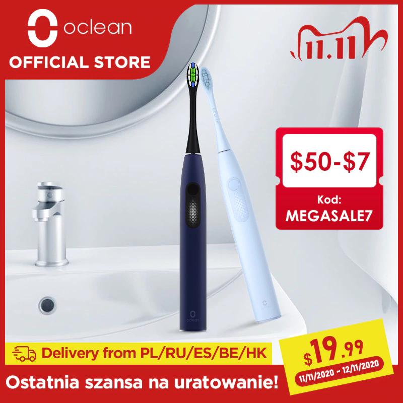 Wodoodporna elektryczna szczoteczka soniczna Oclean F1 @Aliexpress - wysyłka z Polski