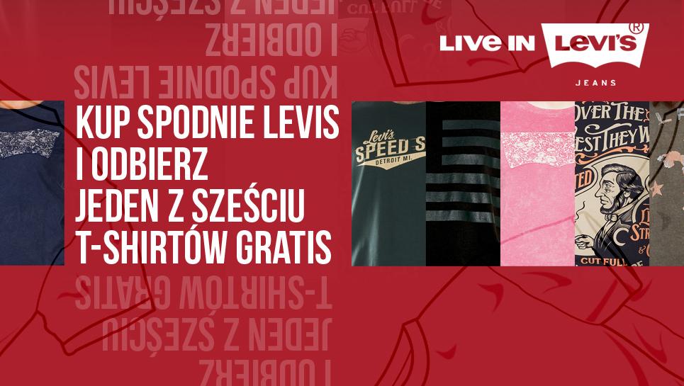 T-shirt marki Levis gratis przy zakupie dowolnych spodni firmy Levis @ jeans24h