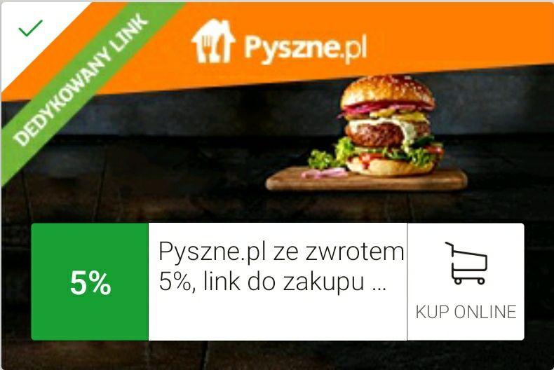 Mbank 5% cashback z Pyszne.pl