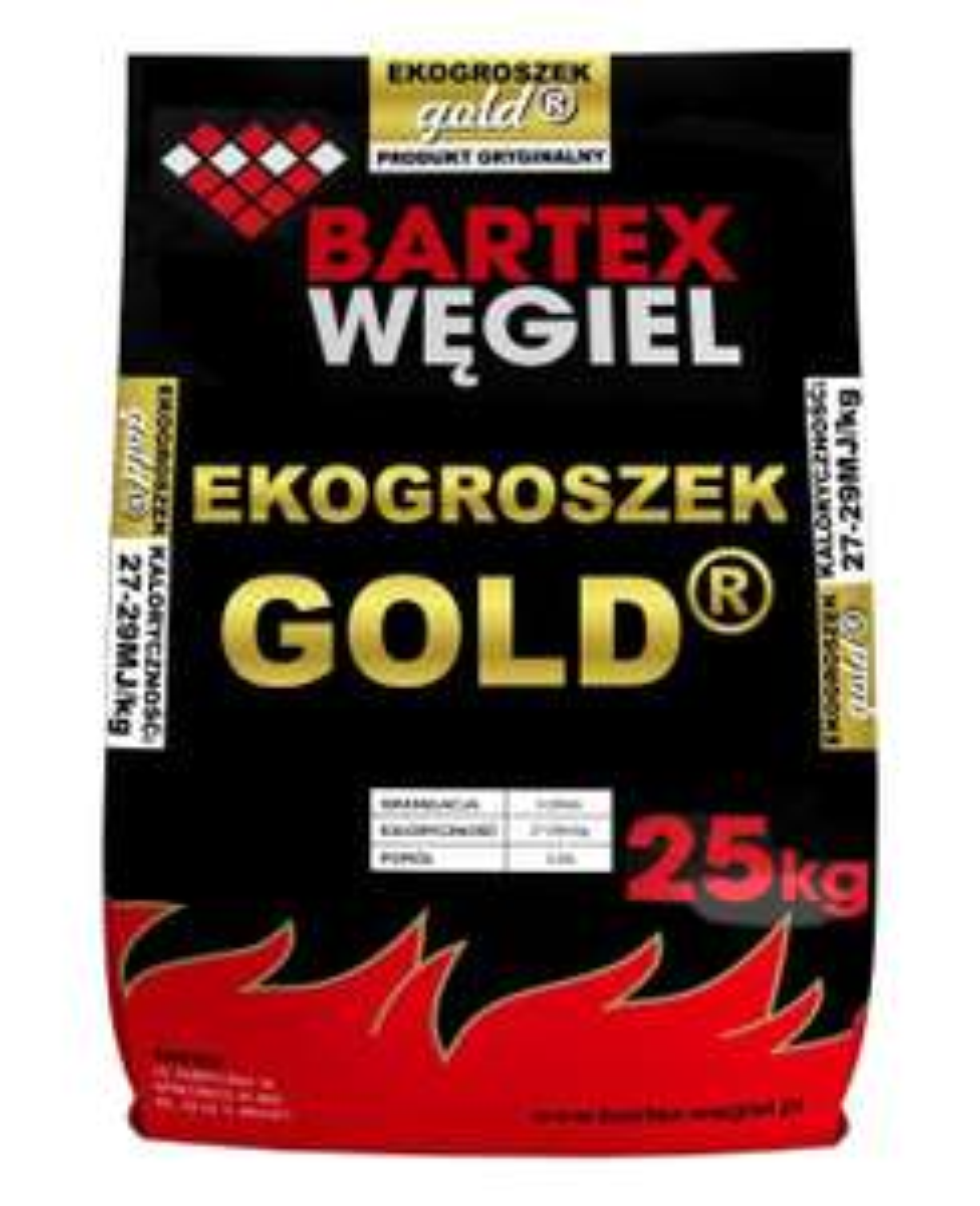 Bartex Ekogroszek kamienny Gold 27-29 MJ worki 25 kg, cena za tonę 760zł @Obi Wrocław