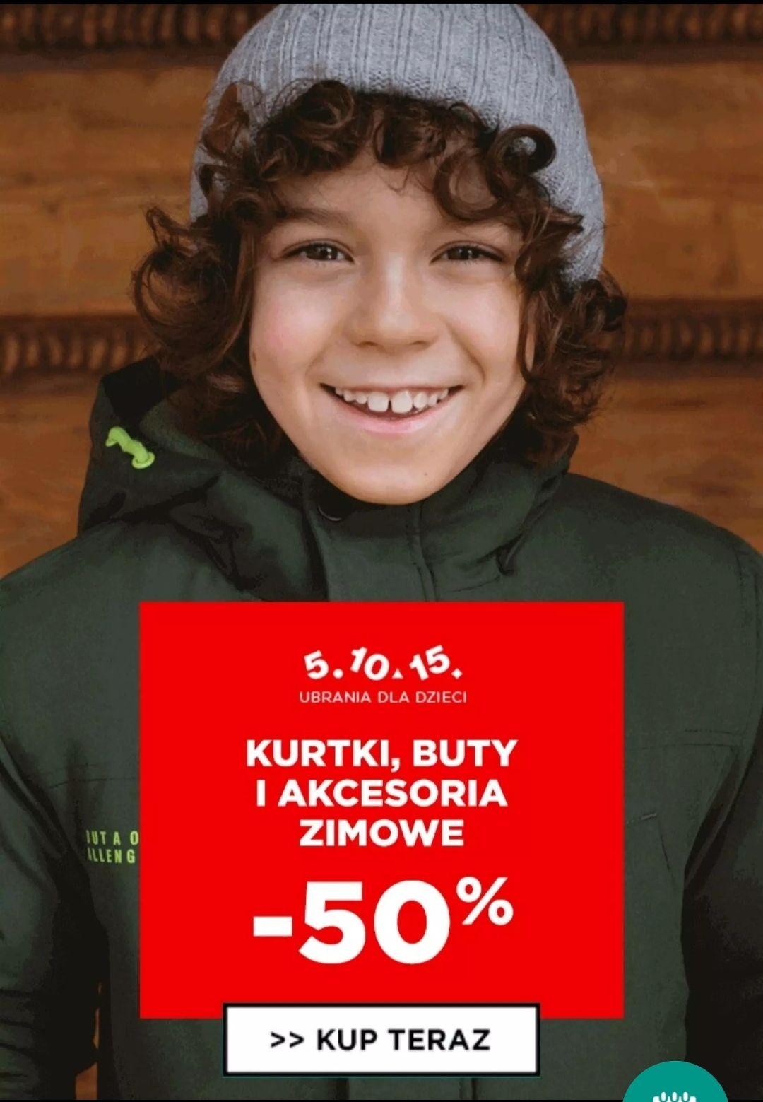- 50% na kurtki, buty, akcesoria zimowe - 5.10.15