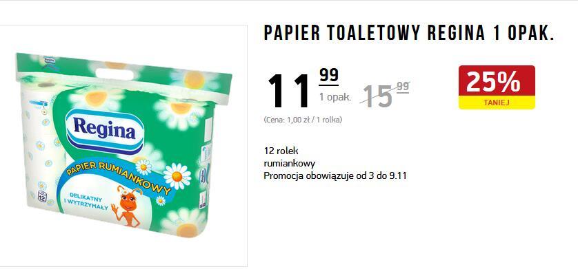 Papier toaletowy REGINA rumiankowy 12 rolek - Intermarche