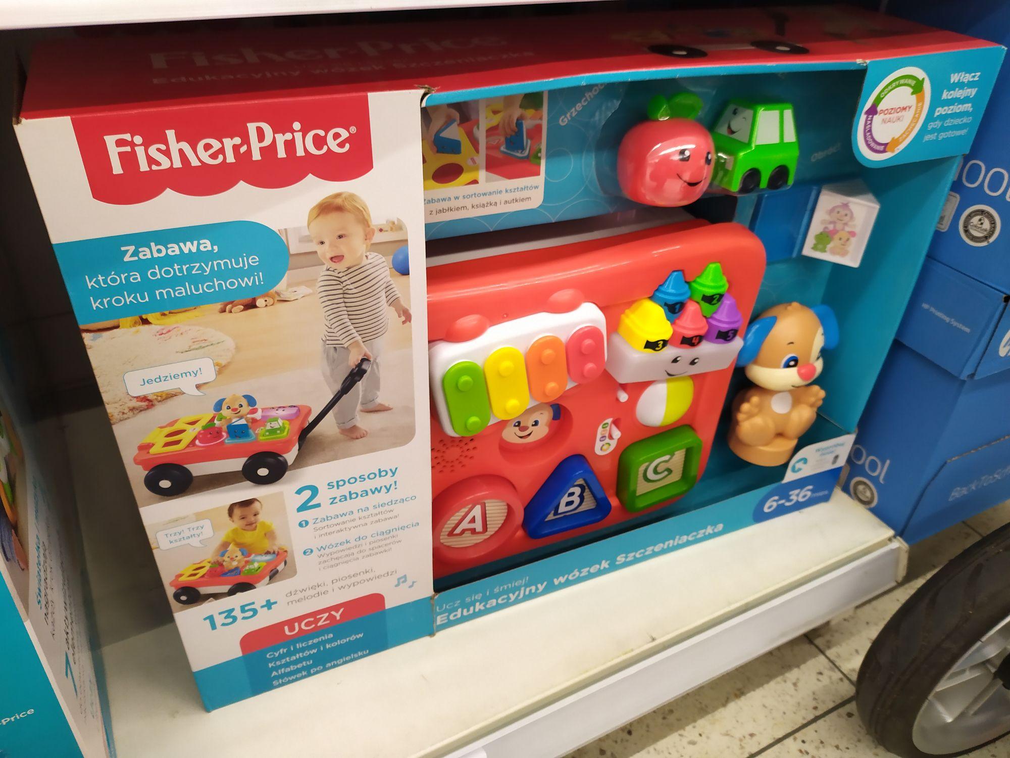 Edukacyjny wózek Szczeniaczka Fisher Price Tesco