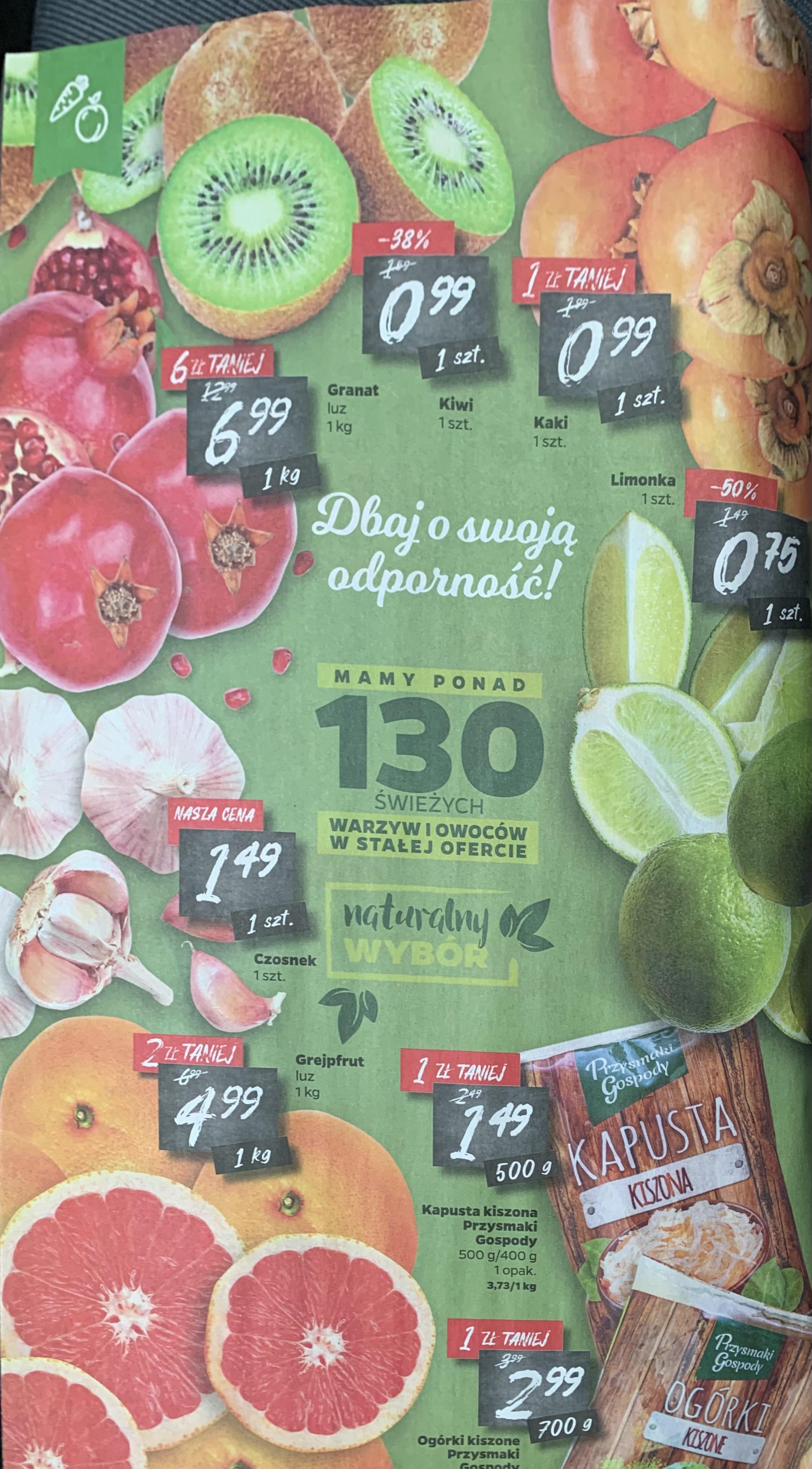 Owoce i warzywa w dobrych cenach w Netto
