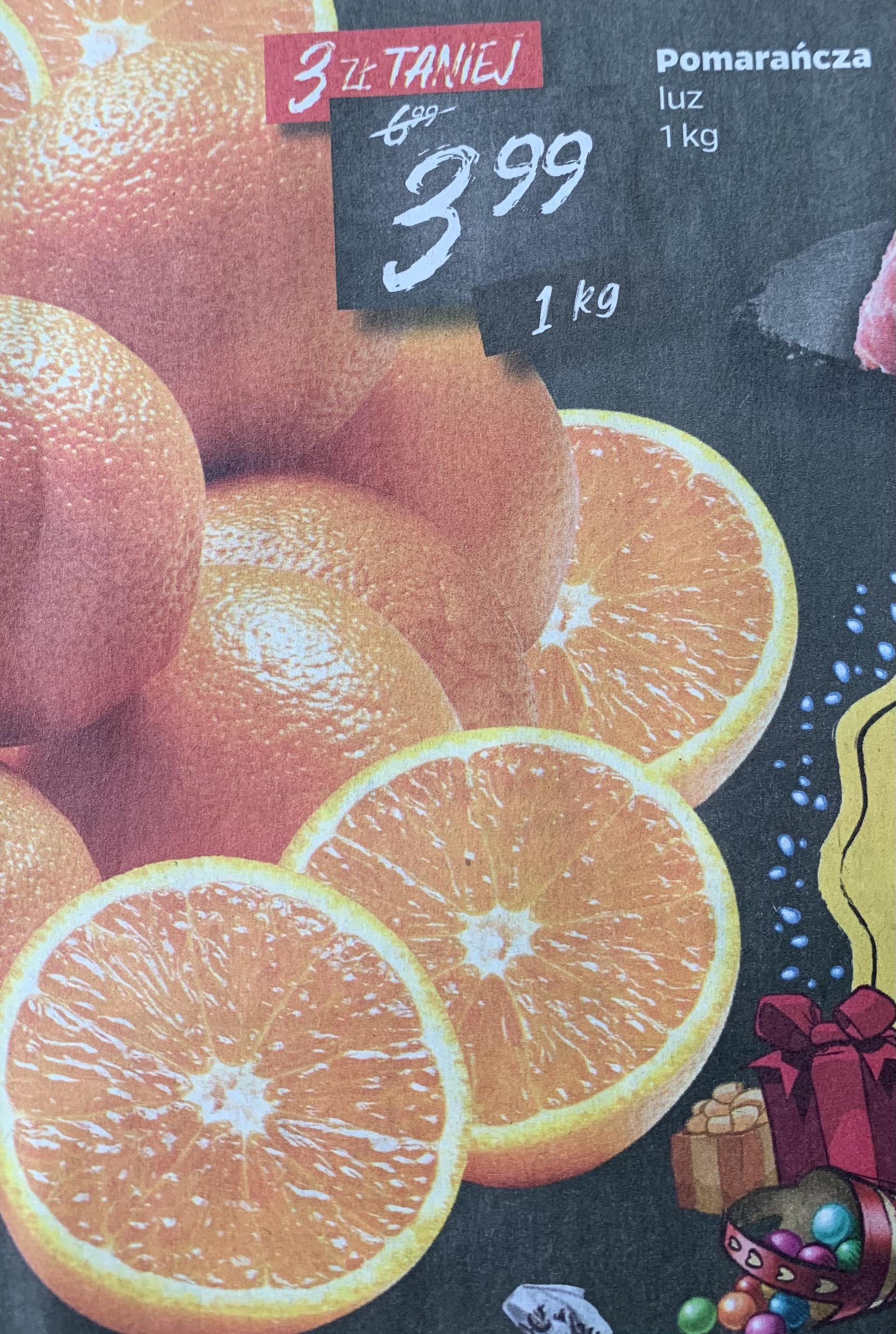 Pomarańcza 3,99zł/kg @Netto
