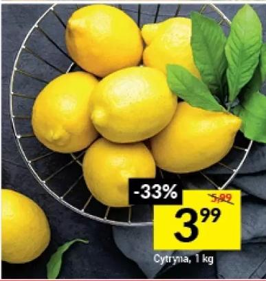 Cytryna 4,49 zł/kg, a w dn. 6.11-7.11 3,99 zł