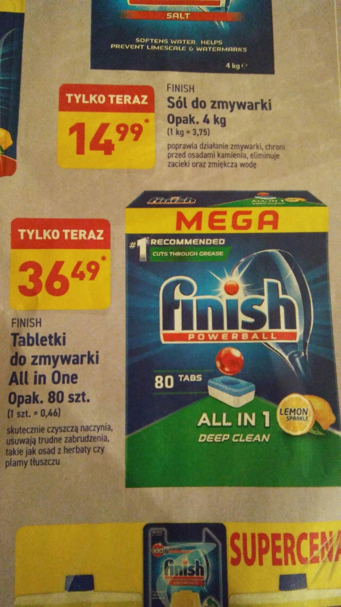 Tabletki do zmywarki Finish All In One 80 sztuk / 0,46 sztuka