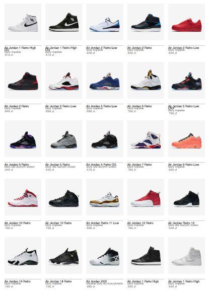 Buty z linii Jordan Retro z rabatem 25% @ Nike