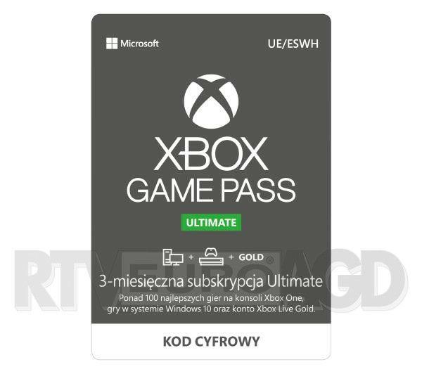 Xbox game pass ultimate 3- msc 40% taniej - przy zakupie konsoli xbox series x/s