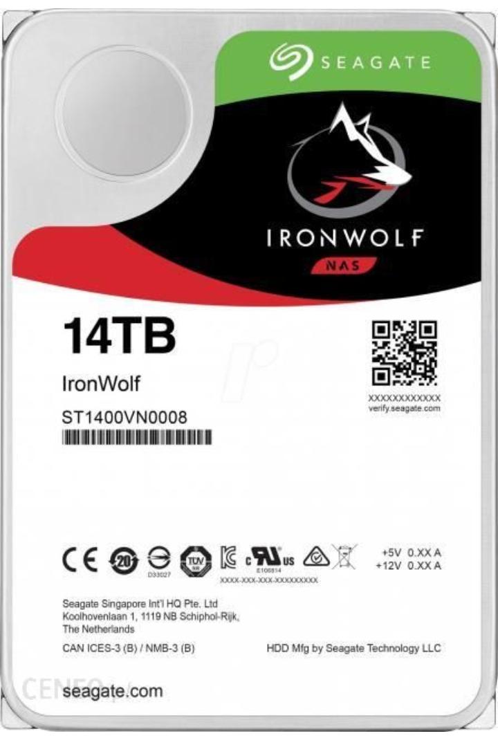 "HDD Seagate NAS IronWolf 14TB 3,5"" ST14000VN0008 możliwe 1526,27PLN (rabat za zapis do newslettera)"