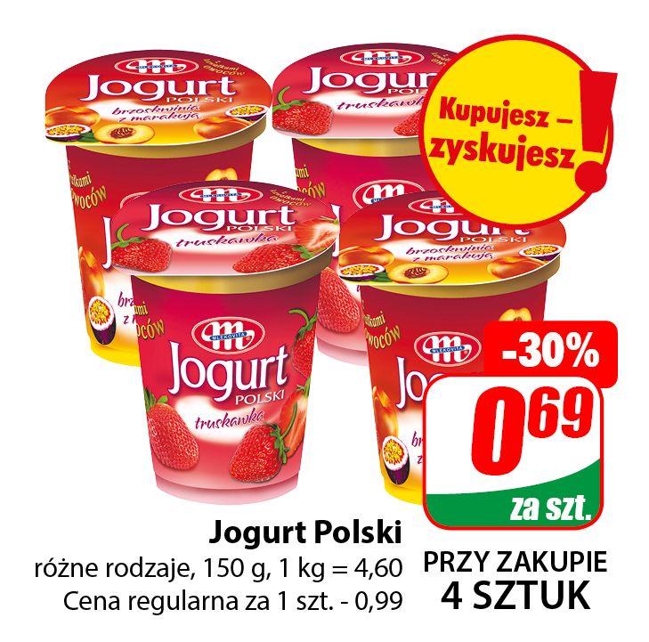 Jogurt Polski 150g Mlekovita (cena przy zakupie 4szt.) - DINO