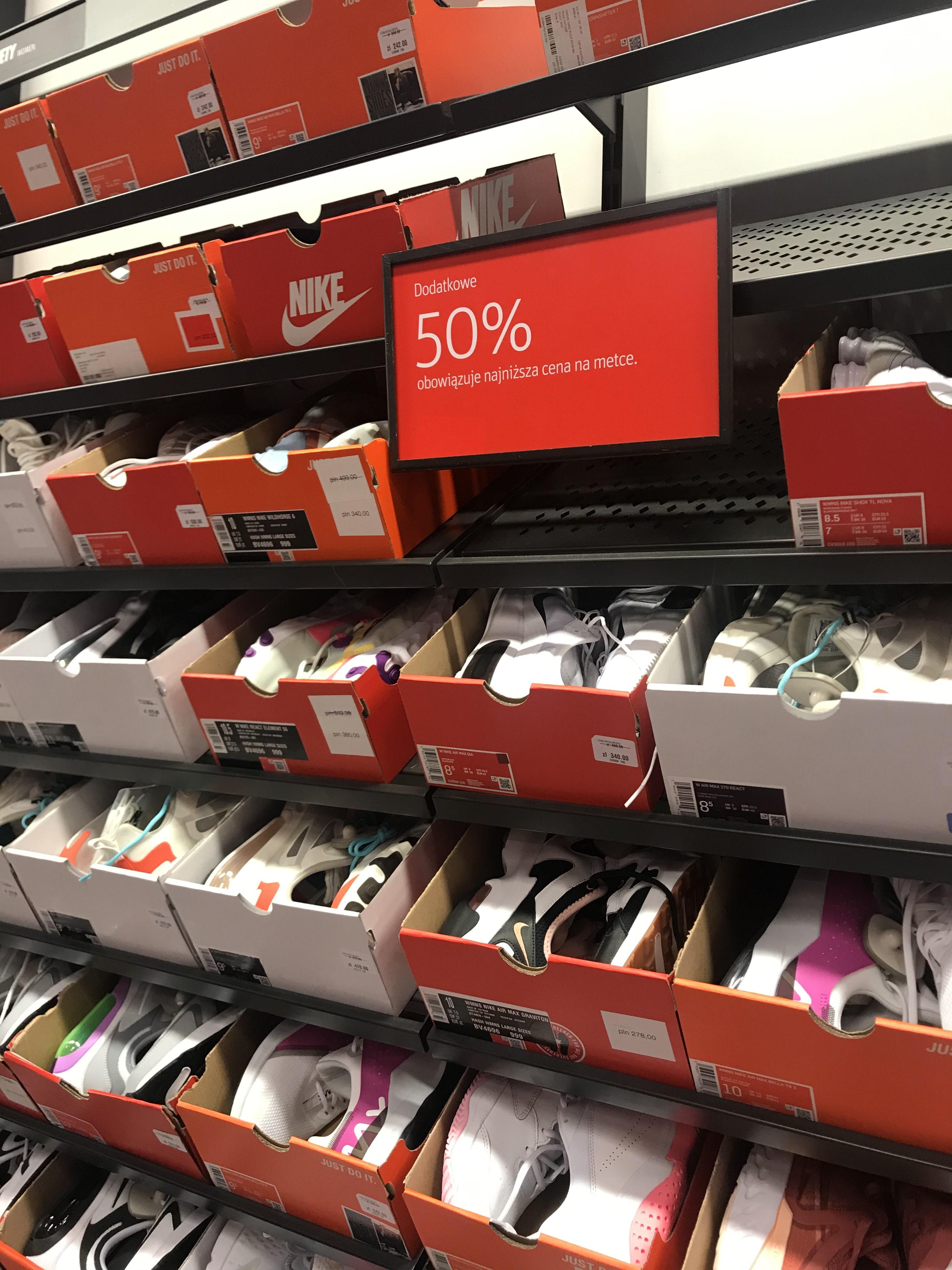 50% od najniższej ceny buty ze ścianki nike Factory Annopol