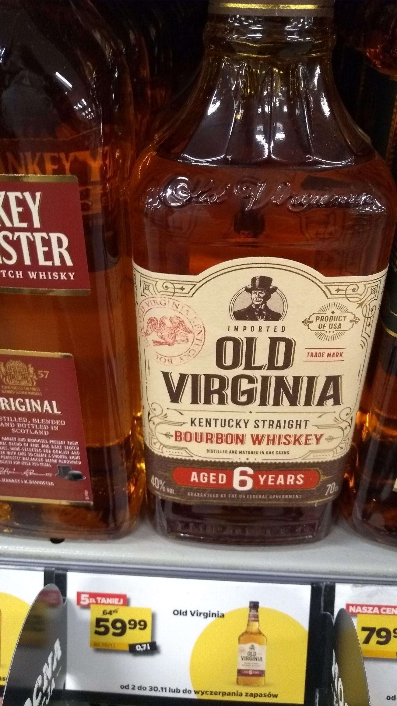 Bourbon Whiskey Old Virginia 6YO w Netto