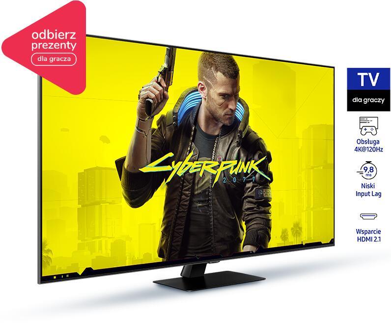 Wybierz TV QLED Samsung. Odbierz gadżety o wartości 400 lub 700 zł.