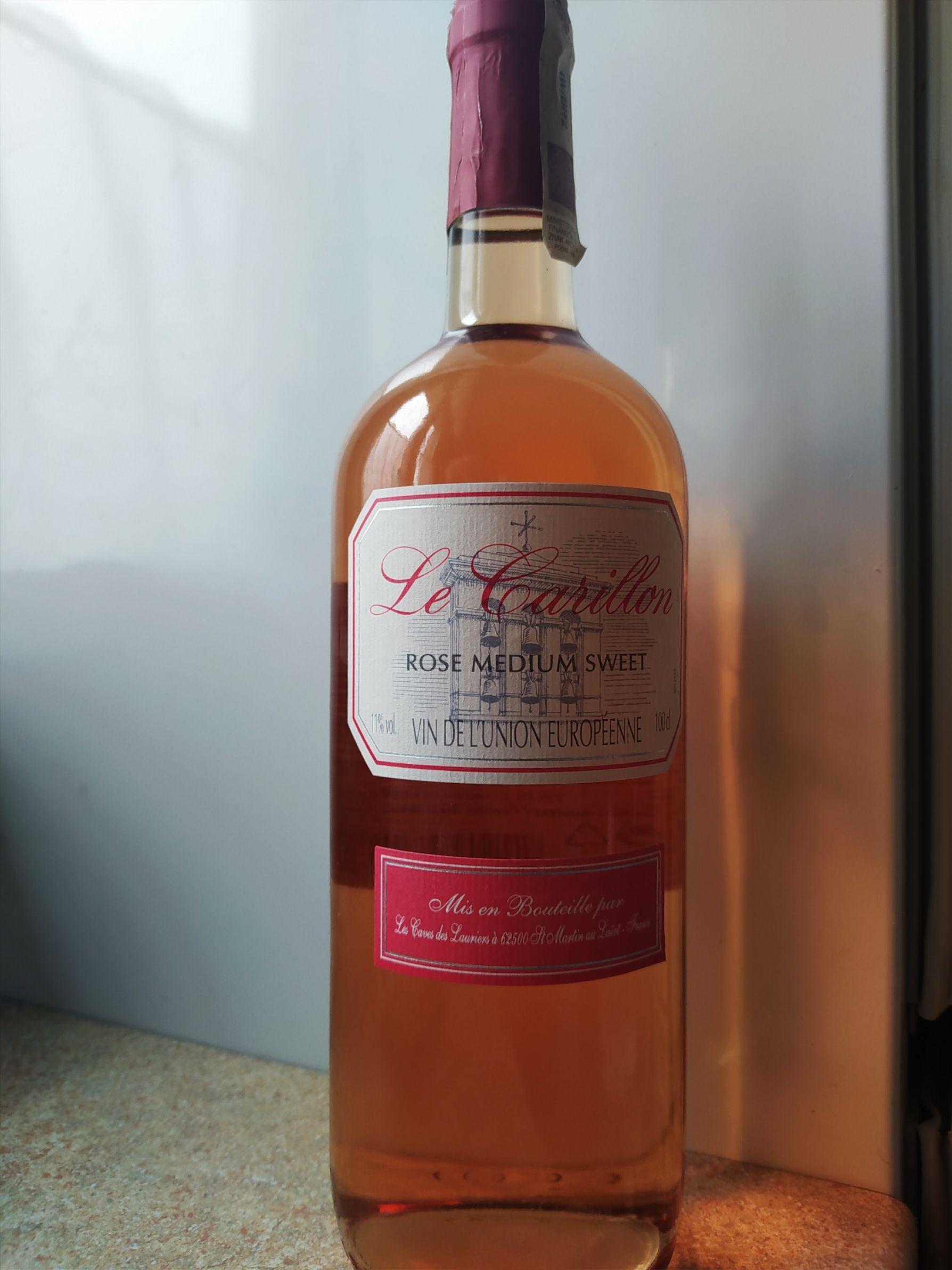 Wino Le Carillon Rose Medium Sweet - Biedronka