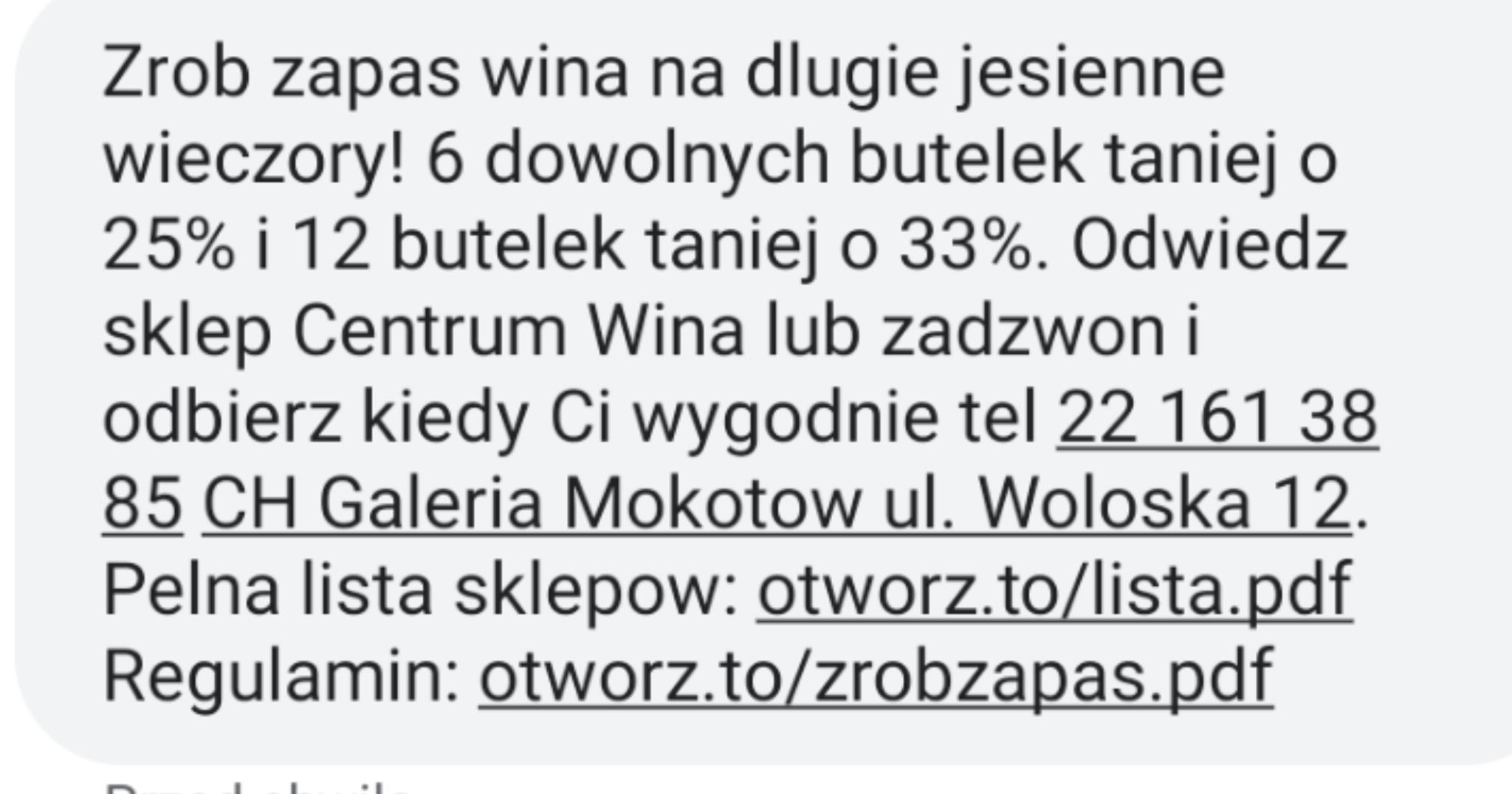 Centrum Wina 6/25% 12/33%