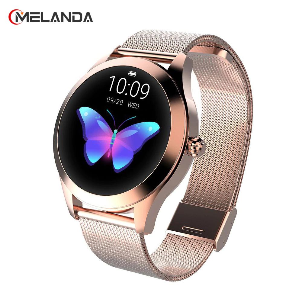 Zestawienie damskich zegarków Smartwatch MELANDA @AliExpress-darmowa dostawa z PL