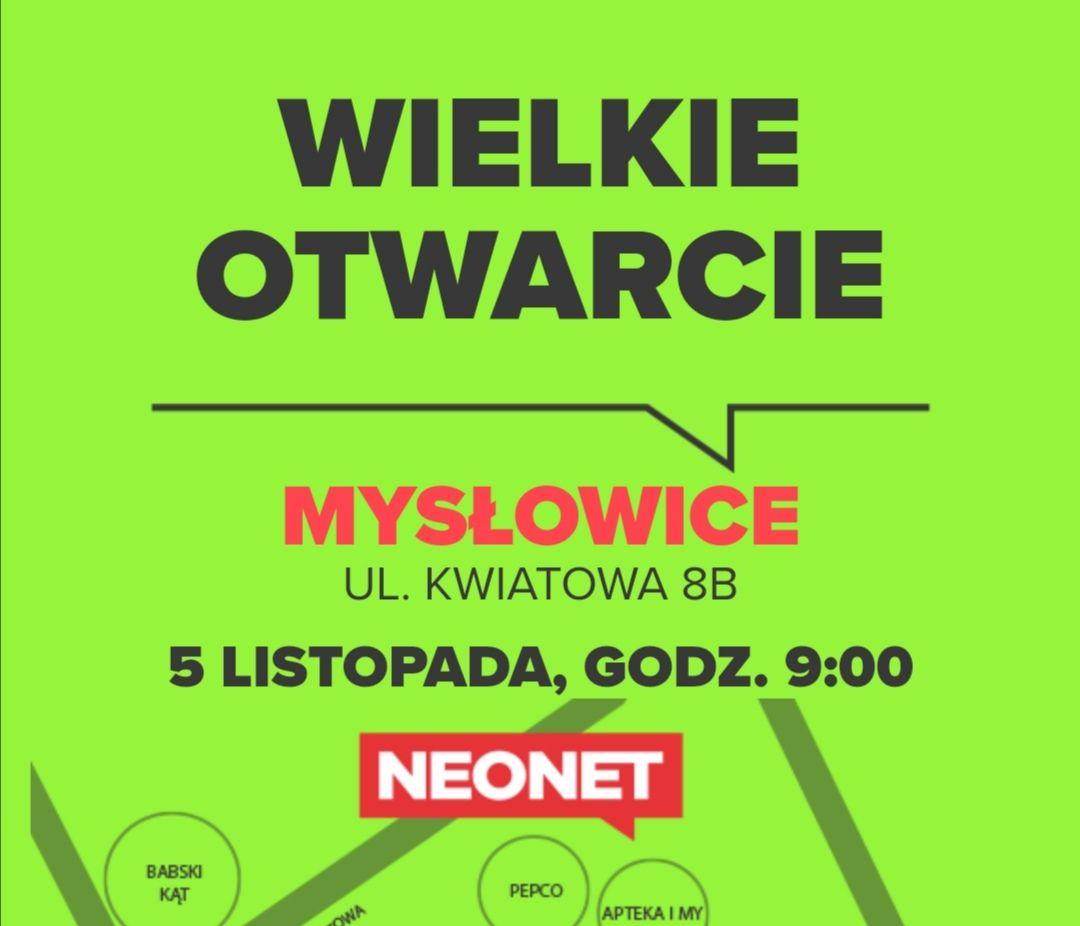 Bony 100/300 i 50/150 dla pierwszych 150 klientów + gazetka promocyjna na otwarcie @Neonet Mysłowice