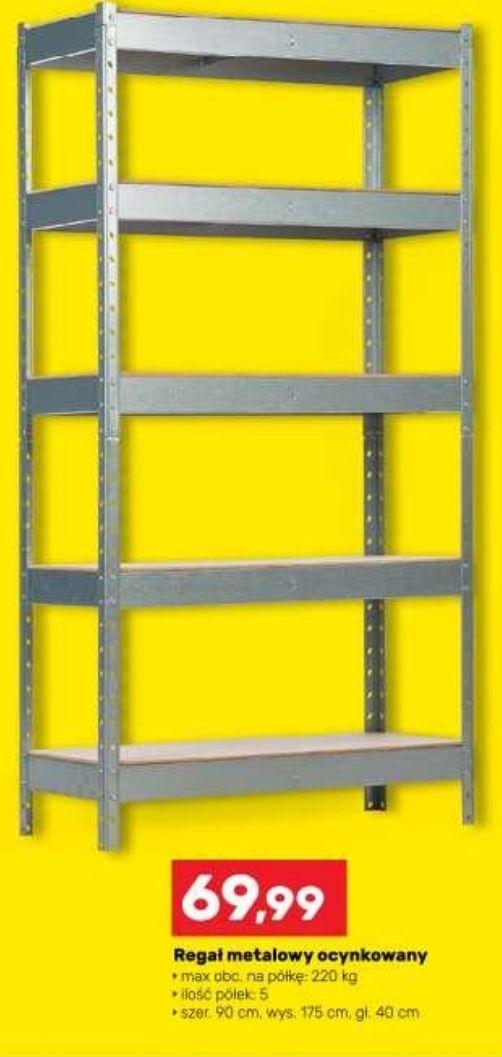 Regał metalowy ocynkowany 1750 x 900 x 400 mm, 5 półek, 220 kg/na półkę - Bricomarche