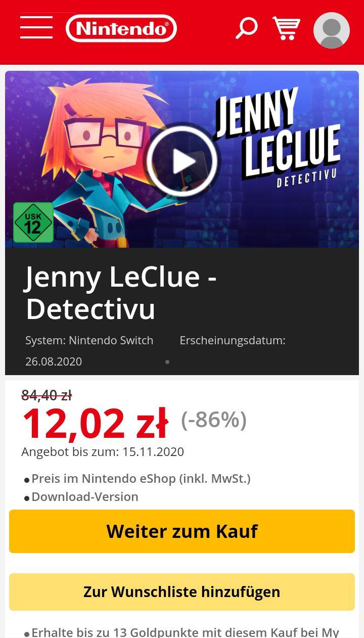 Jenny LeClue - Detectivu Nintendo Switch 2,99€