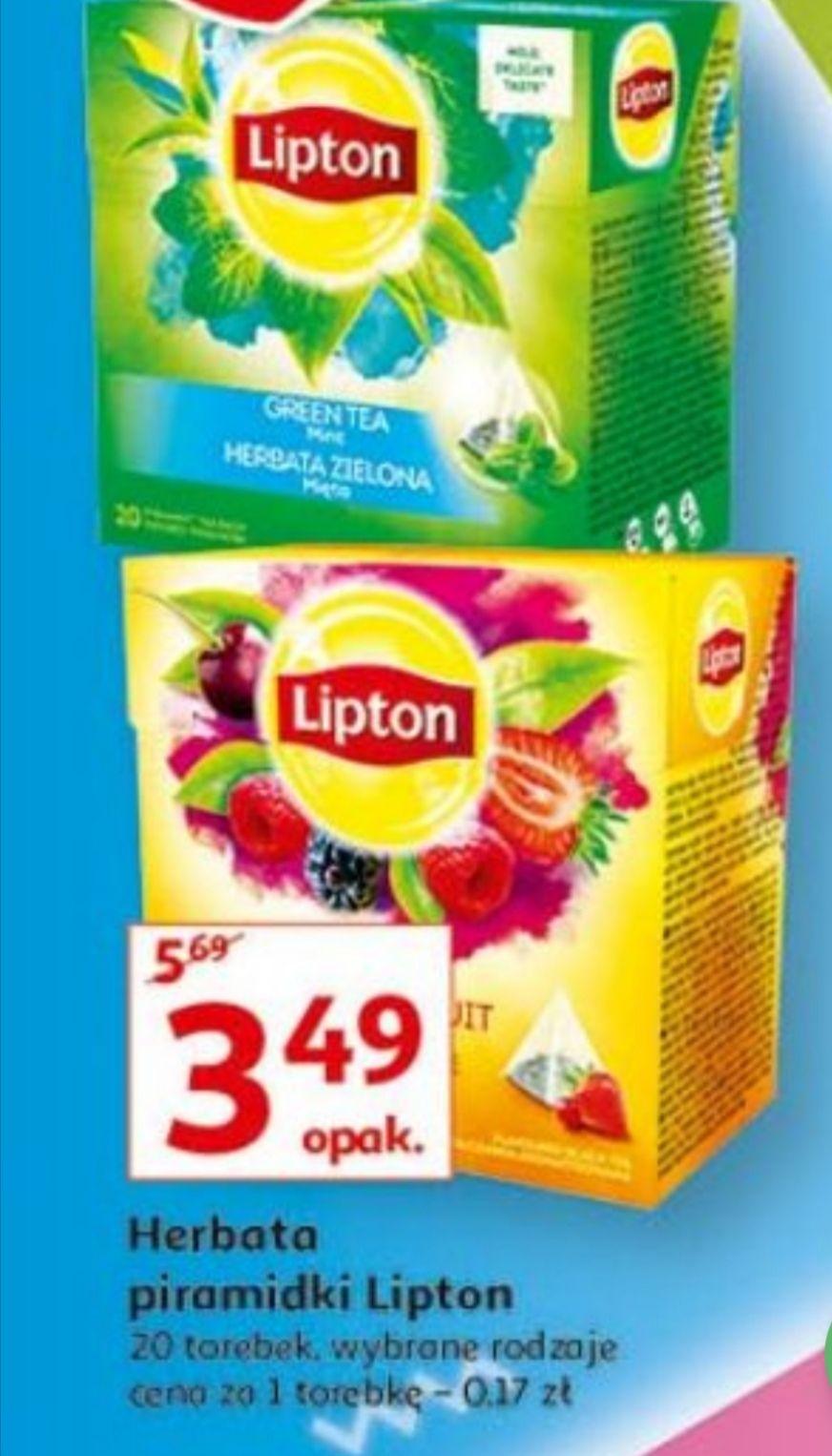 Herbata Lipton piramidki cena za opak.