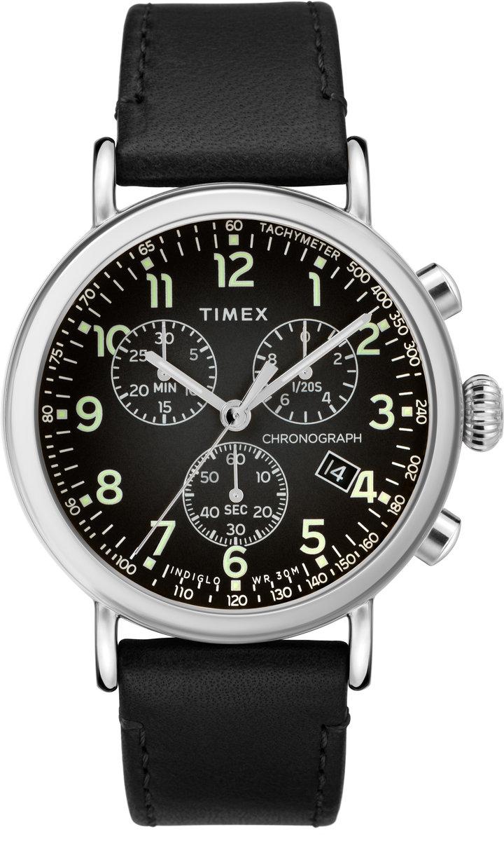 ZEGAREK Timex Standard Chronograph 41mm Leather Strap