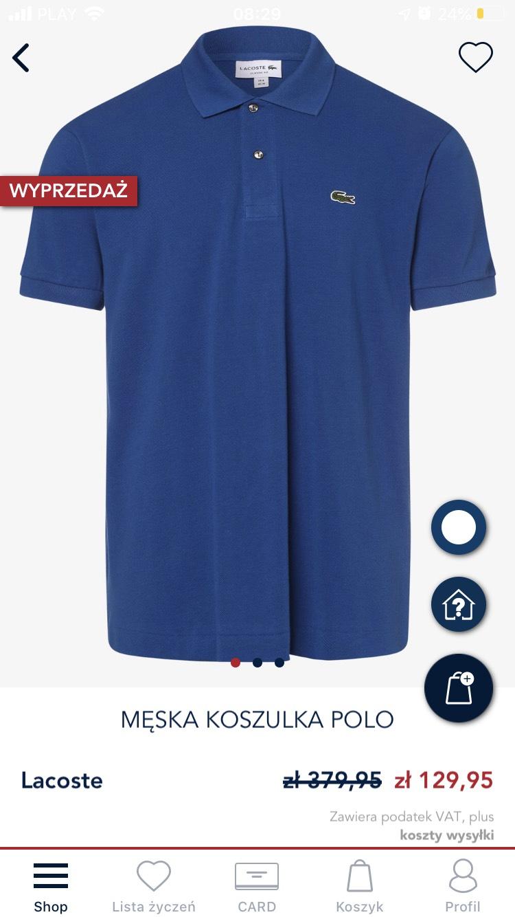 Lacoste koszulka polo męska Van Graaf
