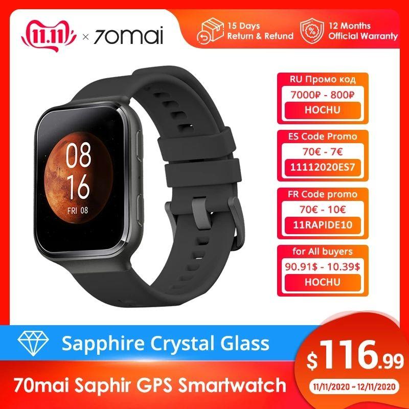 70mai Saphir GPS Smartwatch @aliexpress wysyłka z Polski