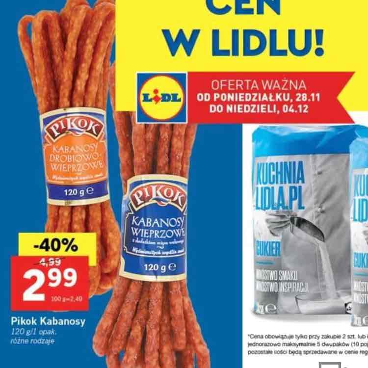 Kabanosy z Lidla -40%