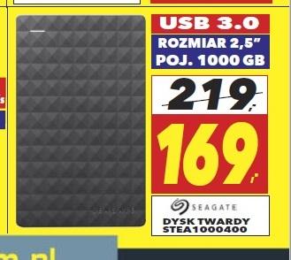 Seagate Expansion Portable 1TB Czarny (STEA1000400) Rtv Euro Agd Atrium Reduta Warszawa