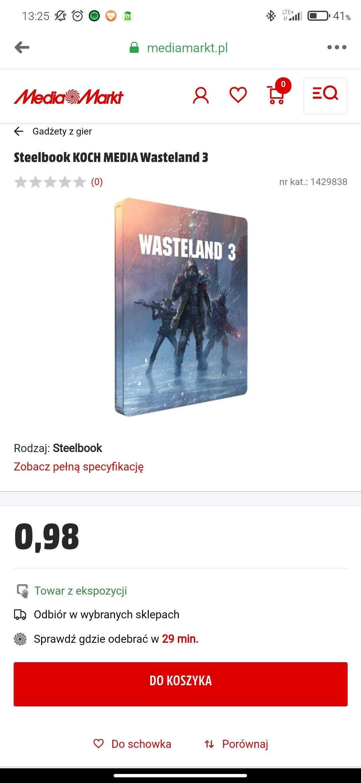 Steelbook z gry Wastelands 3 za pół darmo