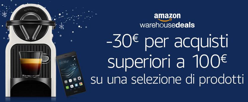 -30€ na wybrane produkty przy min. wartości zamówienia 100€ @ Amazon Warehouse Deals (DE, IT, FR)