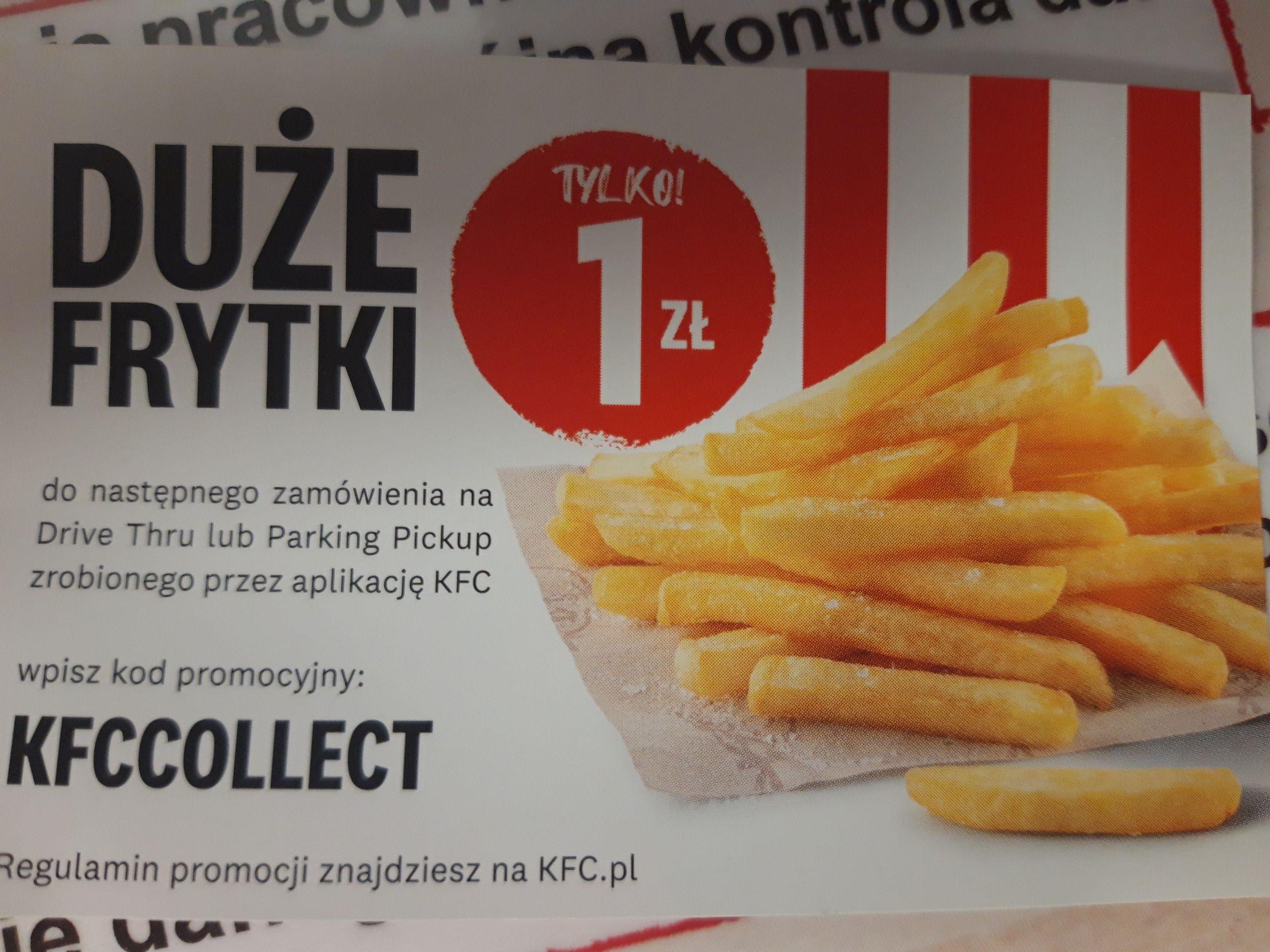 KFC duże frytki za 1 zł