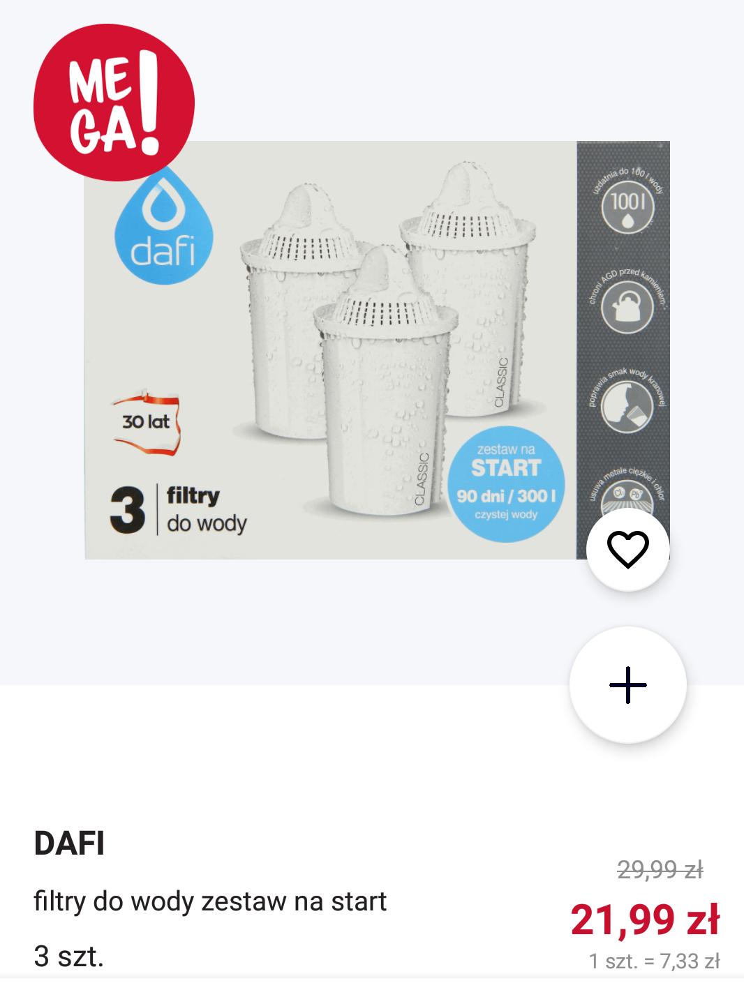Rossmann Dafi filtr do wody 3 szt