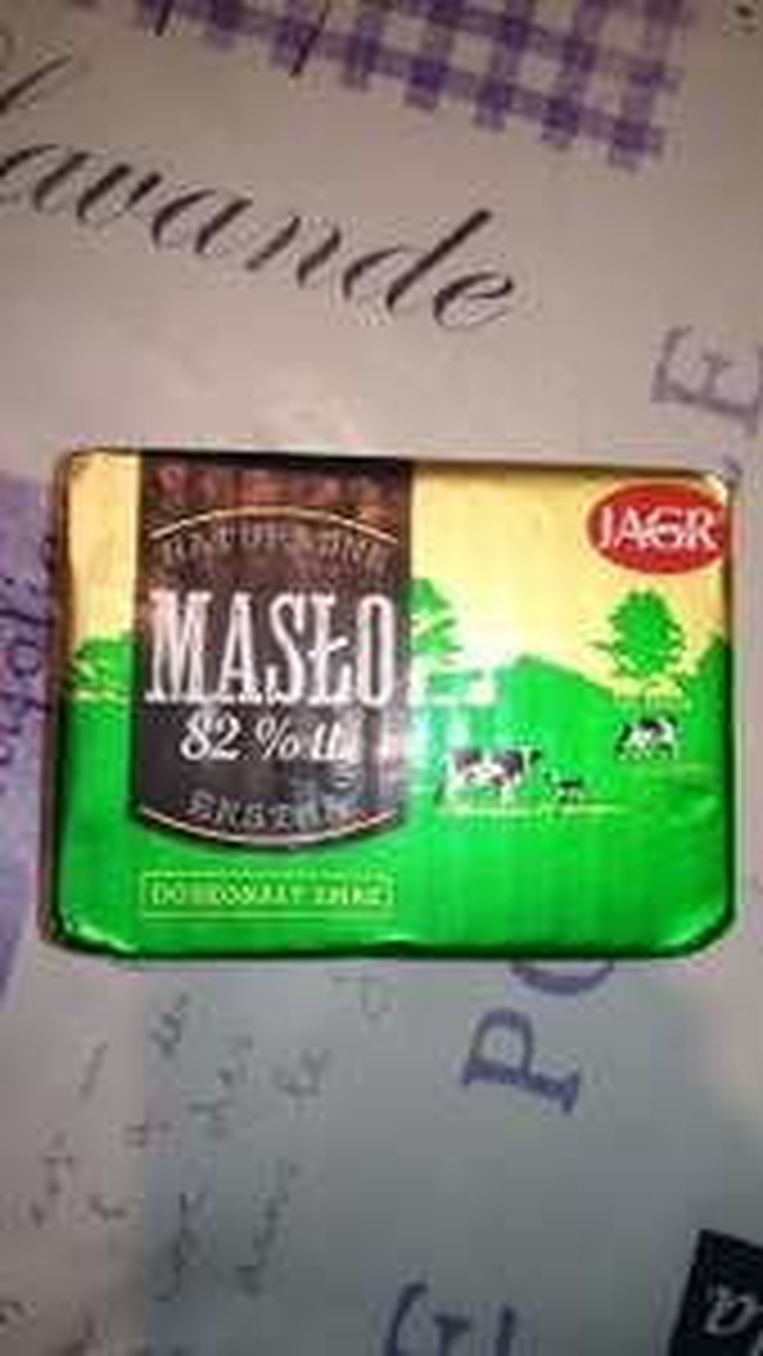Masło ekstra kostka 200 gramów Jagr Kaufland