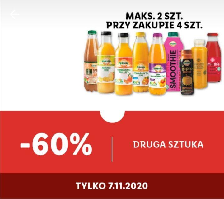 Soki chłodzone marki Solevita -60% Lidl