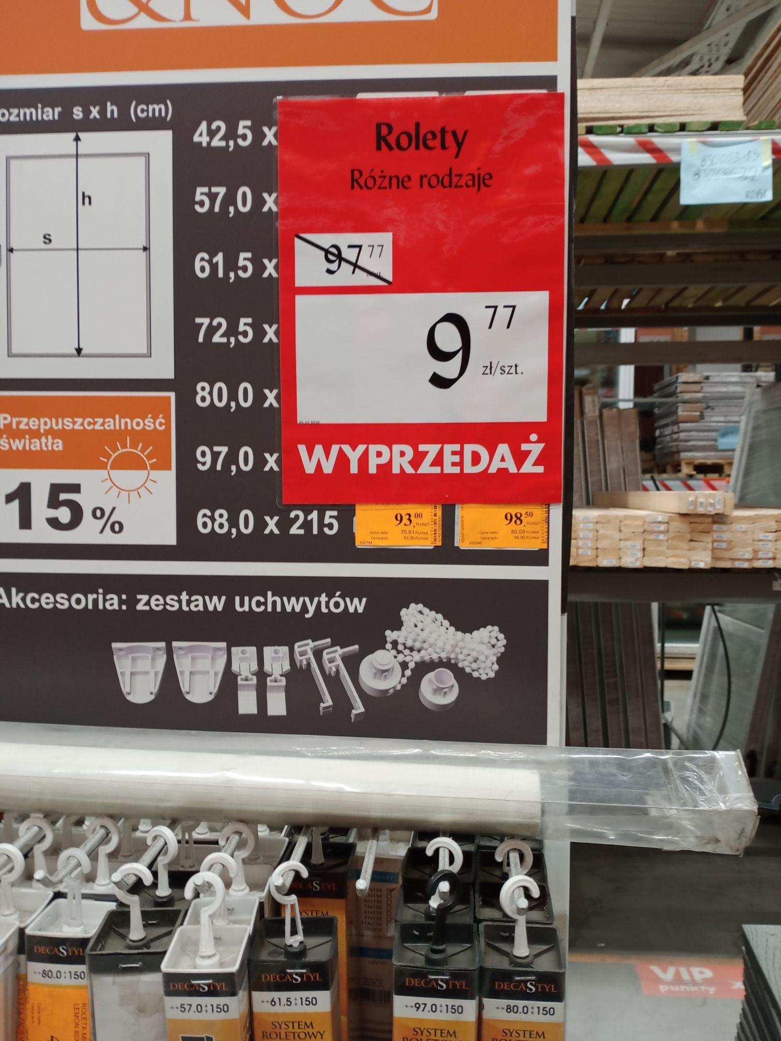 Rolety Bricoman 9,77zł Poznań Obornicka