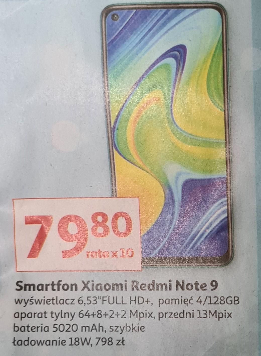 Xiaomi Redmi Note 9 4/128GB 06-07.11.2020, możliwe 718 AUCHAN